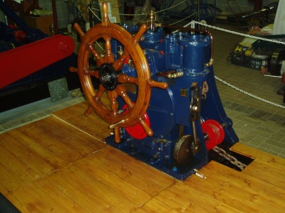 Steering Engine, with ships wheel